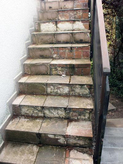 A. u. G. Bossert-Treppenaufbereitung-davor
